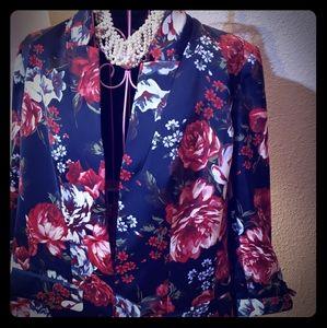 Floral Silky Blazer
